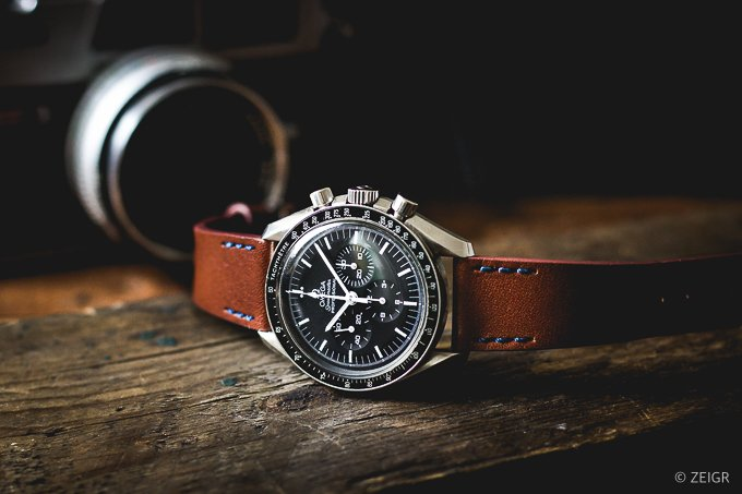 ZEIGR Uhrenarmband Leder Vintage Braun 20mm Omega Speedmaster Moonwatch-1.jpg