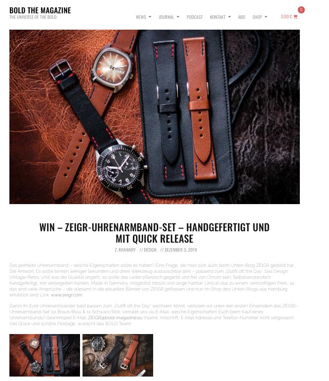 Gewinnspiel ZEIGR Uhrenarmbänder BOLD.png