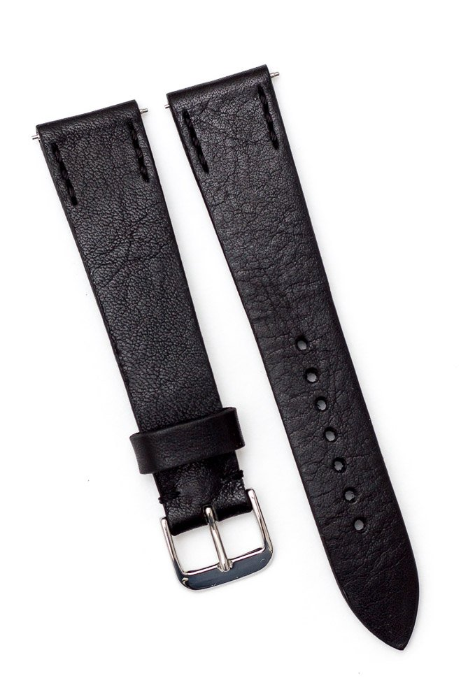 Uhrenarmband schwarz Leder 20 mm - ZEIGR Strap All Black -3764.jpg